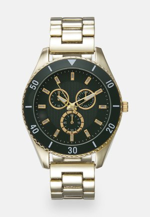 Watch - gold-coloured/green