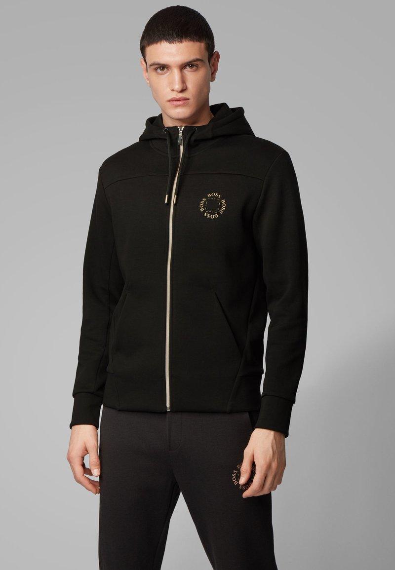 BOSS - SAGGY CIRCLE - Zip-up hoodie - anthracite