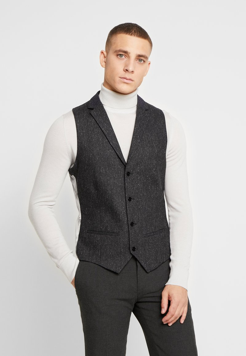Twisted Tailor - SNOWDON WAISTCOAT - Waistcoat - charcoal