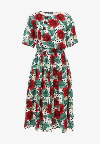 CAMUS - Korte jurk - weiß/ rot