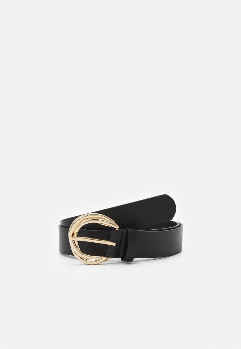 Lindex - GOLD BUCKLE WATER BASED BELT - Belt - black