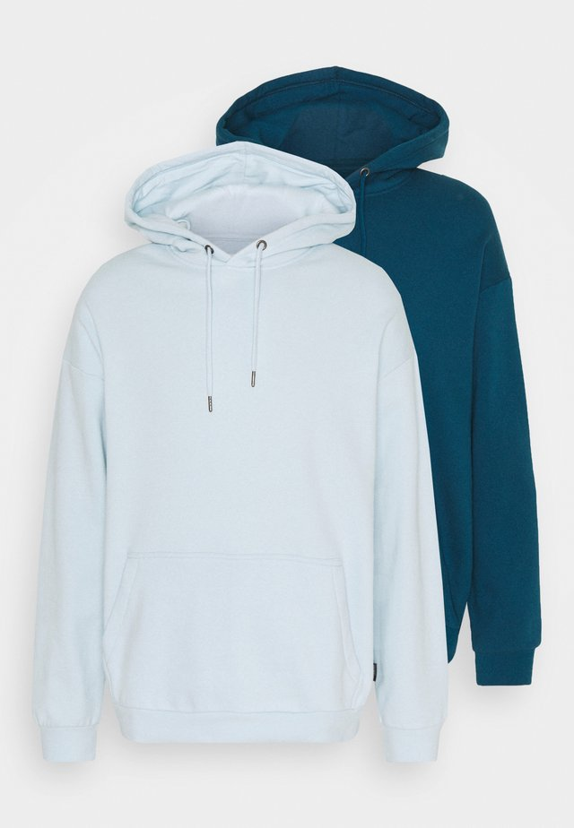 2 PACK UNISEX - Hoodie - teal/light blue