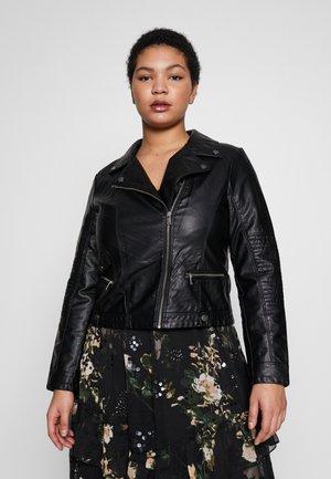 VMULTRAMALOU SHORT COATED JACKET - Faux leather jacket - black