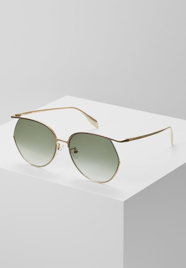 SUNGLASS WOMAN  - Zonnebril - gold-coloured/green