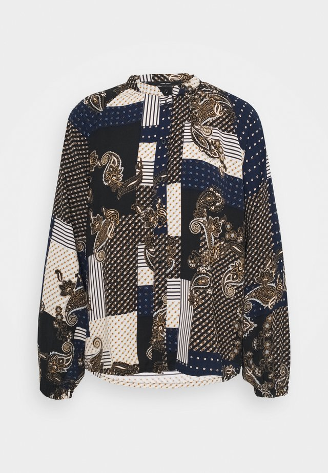 VMHILDA SHIRT  - Button-down blouse - navy blazer