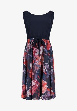 MIT BLUMENPRINT - Day dress - dark blue/pink