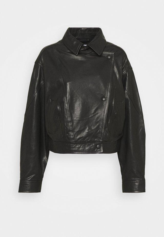 ALKAL  - Leather jacket - black
