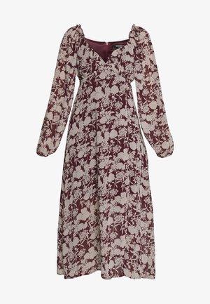 FLORAL MILKMAID MIDAXI DRESS - Freizeitkleid - burgundy