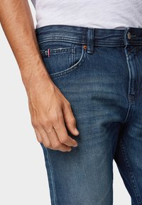 TOM TAILOR DENIM - Slim fit jeans - used dark stone blue denim - 4