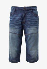 TOM TAILOR - MAX BERMUDA  - Denim shorts - mid stone wash denim - 6
