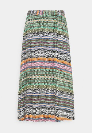JDYSTAAR LIFE ABOVE CALF SKIRT - A-line skirt - cloud dancer/aztec multicolor