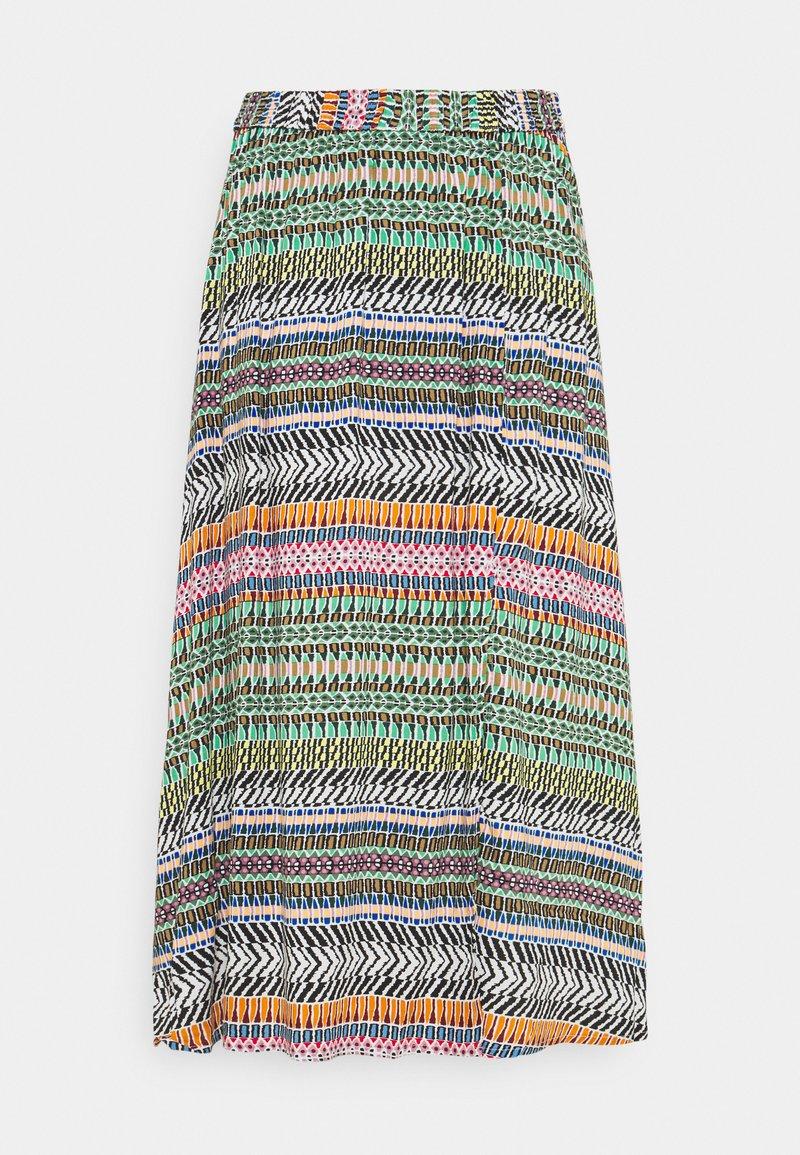JDY - JDYSTAAR LIFE ABOVE CALF SKIRT - A-line skirt - cloud dancer/aztec multicolor