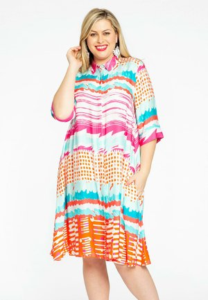 Shirt dress - multi-coloured