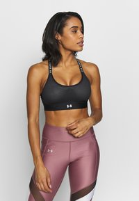 Under Armour - INFINITY MID BRA - Sports-BH - black/white - 0