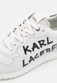 KARL LAGERFELD - VELOCITOR II METEOR BRUSH LOGO - Tenisky - white/black - 5
