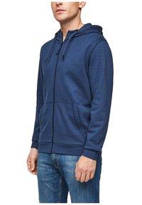 s.Oliver - FELPA - Sweat à capuche zippé - blue - 6