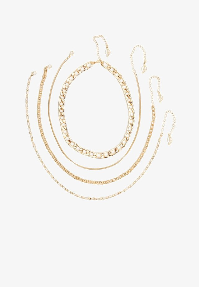 4 PACK - Collier - gold