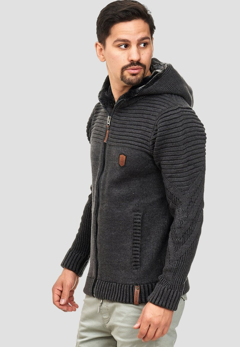 INDICODE JEANS - Zip-up hoodie - anthracite