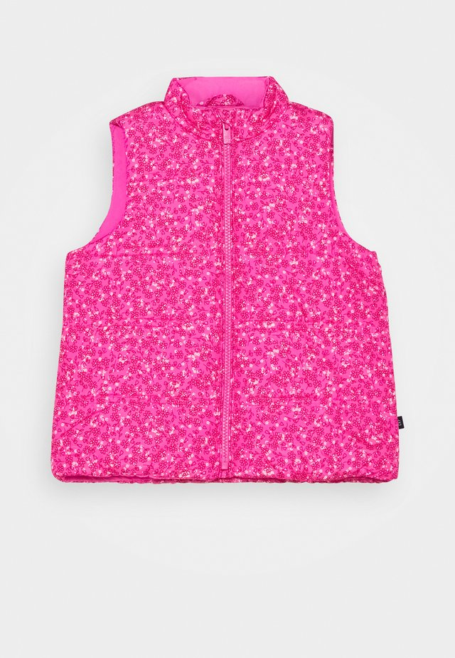 TODDLER GIRL PUFFER VEST - Smanicato - sizzling fuchsia