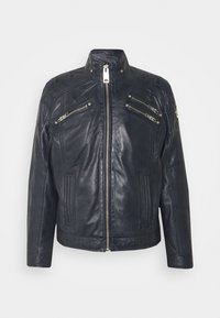 Carlo Colucci - BIKER JACKET - Leather jacket - anthra - 5