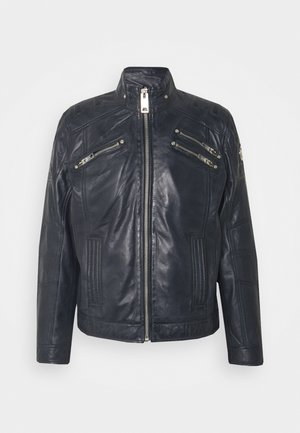 BIKER JACKET - Leather jacket - anthra