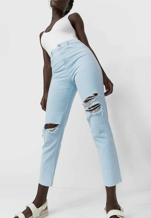 MOM FIT - Jeansy Straight Leg - blue