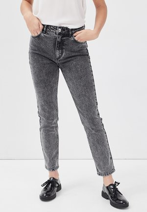 MIT HOHER TAILLE - Slim fit jeans - denim snow gris