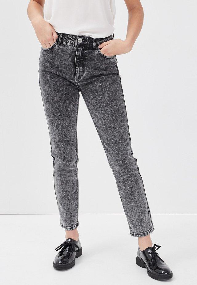 MIT HOHER TAILLE - Jeans slim fit - denim snow gris