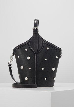PIPPA TOP HANDLE PEARL STUDS - Handbag -  black
