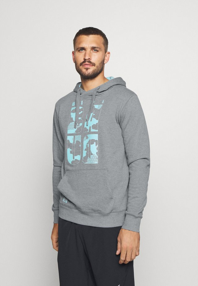 MANU LIFESTYLE HOODY - Sweat à capuche - grey/aqua