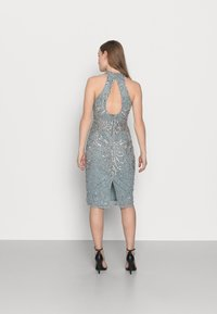 SISTA GLAM PETITE - GLOSSIE  - Cocktail dress / Party dress - grey/blue - 2