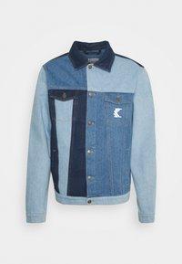 Karl Kani - RINSE BLOCK TRUCKER JACKET - Denim jacket - blue - 0