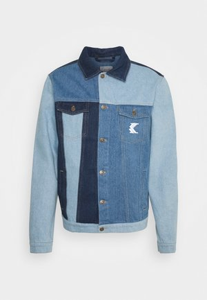 RINSE BLOCK TRUCKER JACKET - Farkkutakki - blue