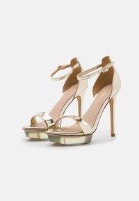 ALDO - FELAWEN - Platform sandals - gold - 2