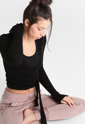 WRAP  - Strickpullover - black