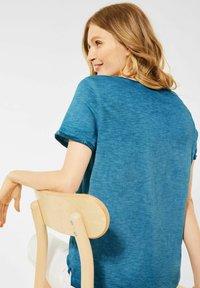 Cecil - MIT FLAMMGARN - Basic T-shirt - blau - 2