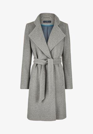 MIT BINDEGüRTEL - Classic coat - silber