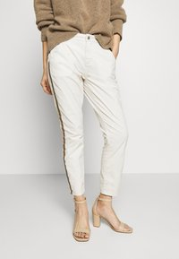 Opus - LETTY COLOR TAPE - Jeans Skinny Fit - beige - 0