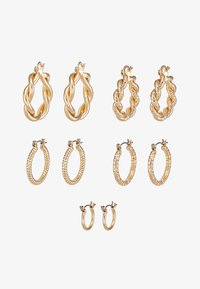 ONLCRISTEL CREOLE EARRINGS 5 PACK - Earrings - gold-coloured