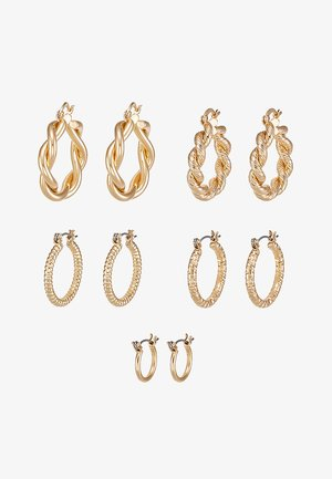 ONLCRISTEL CREOLE EARRINGS 5 PACK - Orecchini - gold-coloured