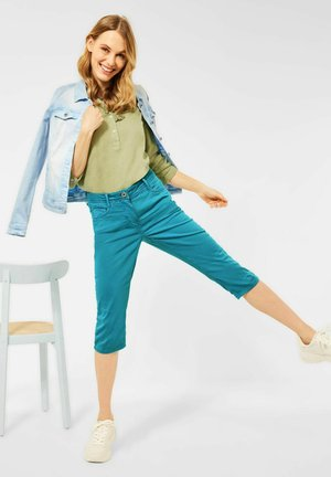 Denim shorts - türkis