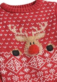 Next - CHRISTMAS REINDEER  (3MTHS-7YRS) - Jumper - red - 2