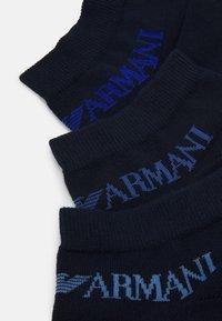 Emporio Armani - IN SHOE SOCKS 3 PACK - Sokker - blue - 1