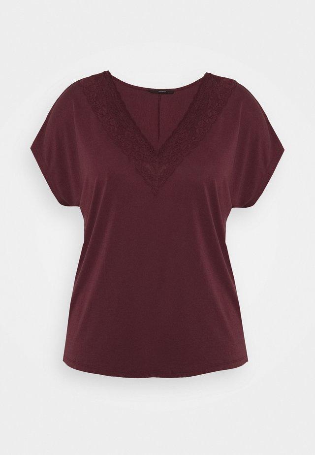 VMBIA CURVE - T-shirt imprimé - cabernet