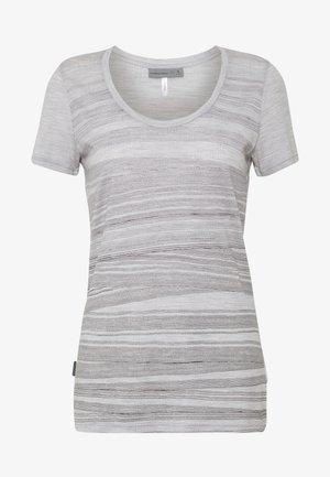 TECH LITE SCOOP 1000 LINES - Print T-shirt - blizzard heather