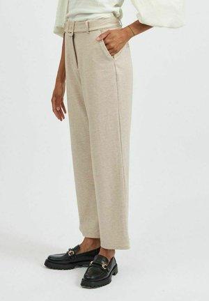 Trousers - natural melange