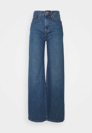ONLHOPE LIFE WIDE - Straight leg jeans - medium blue denim