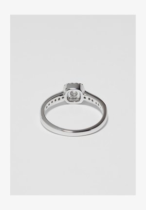 9KT WHITE GOLD 0.40CT CERTIFIED DIAMOND FASHION RING - Anillo - silver-coloured