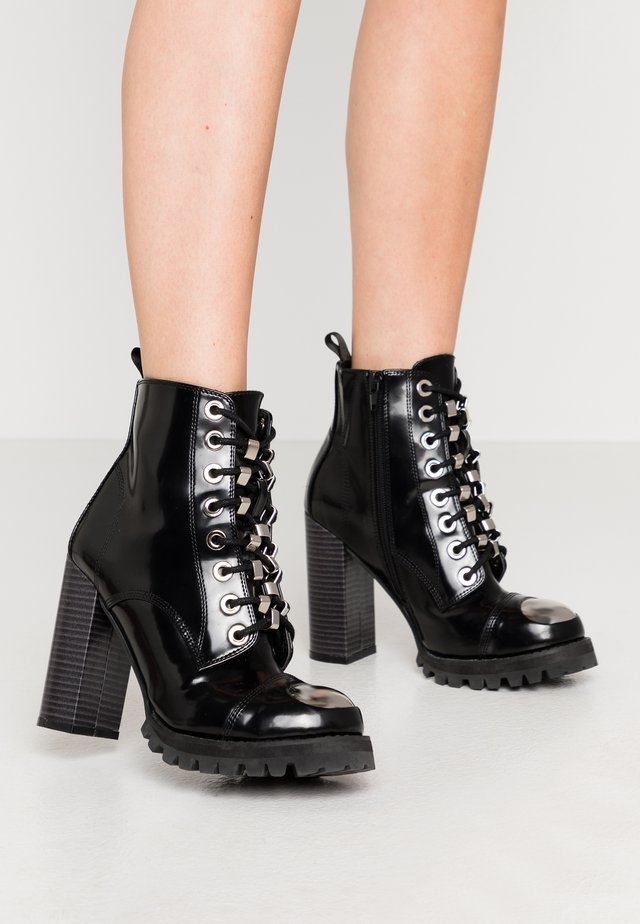 KICKSTAND - High heeled ankle boots - black