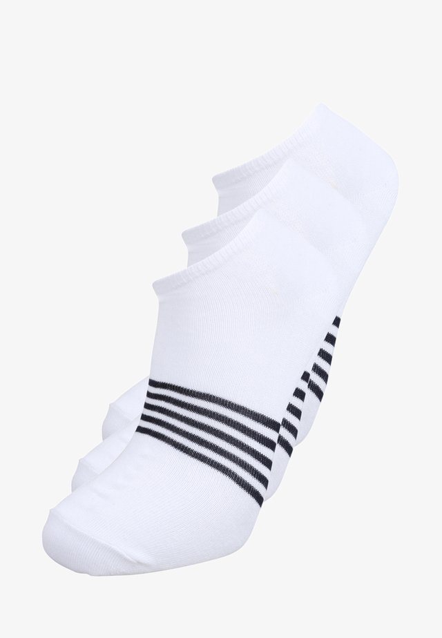 LOW CUT STRIPE 3 PACK - Socks - white